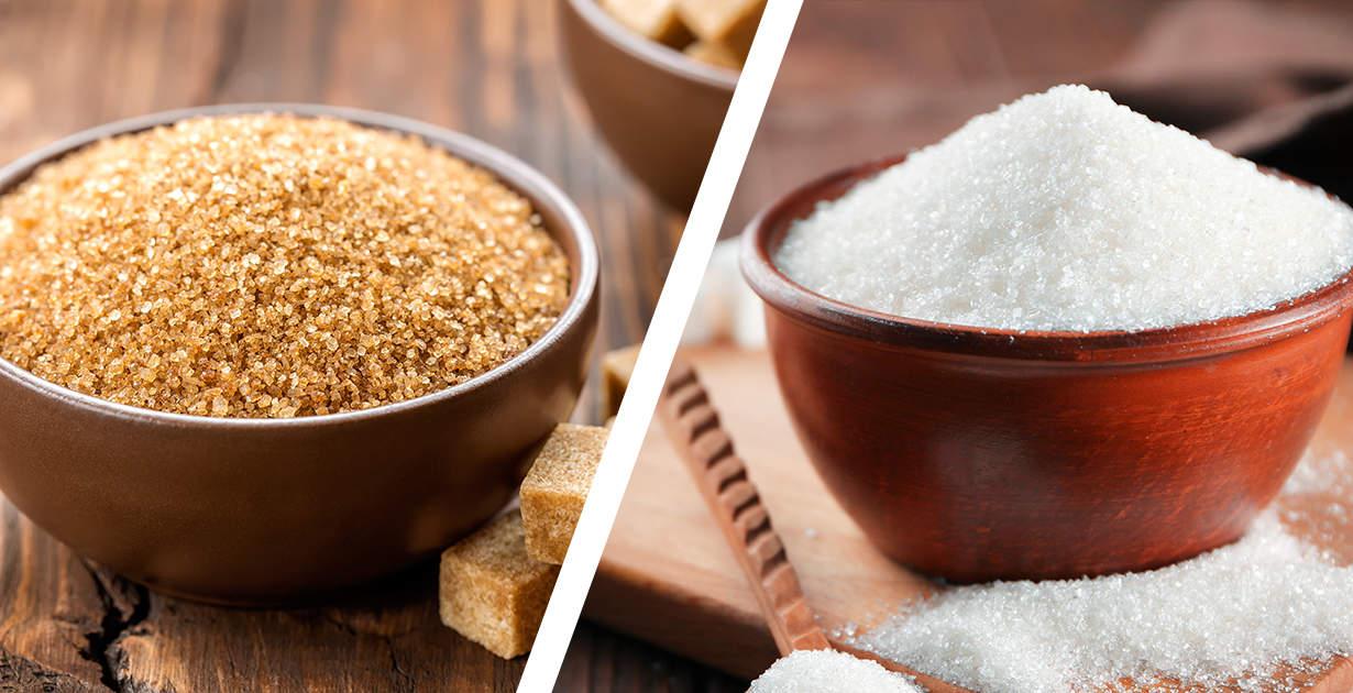 Brown sugar vs White sugar: What's healthier?
