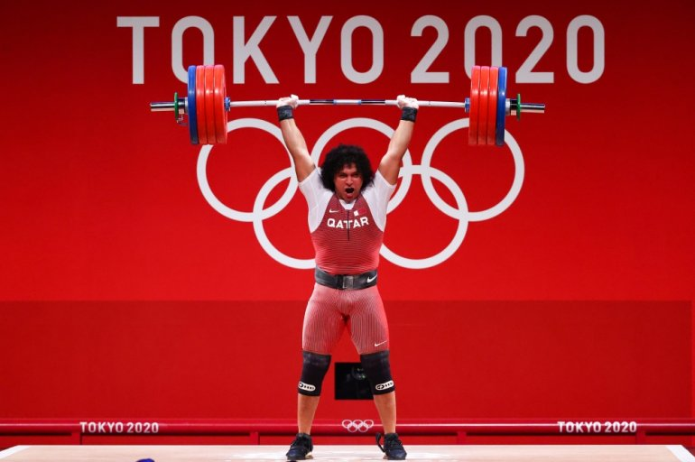 Qatar wins first Olympic gold as Fares Ibrahim sets Olympic record