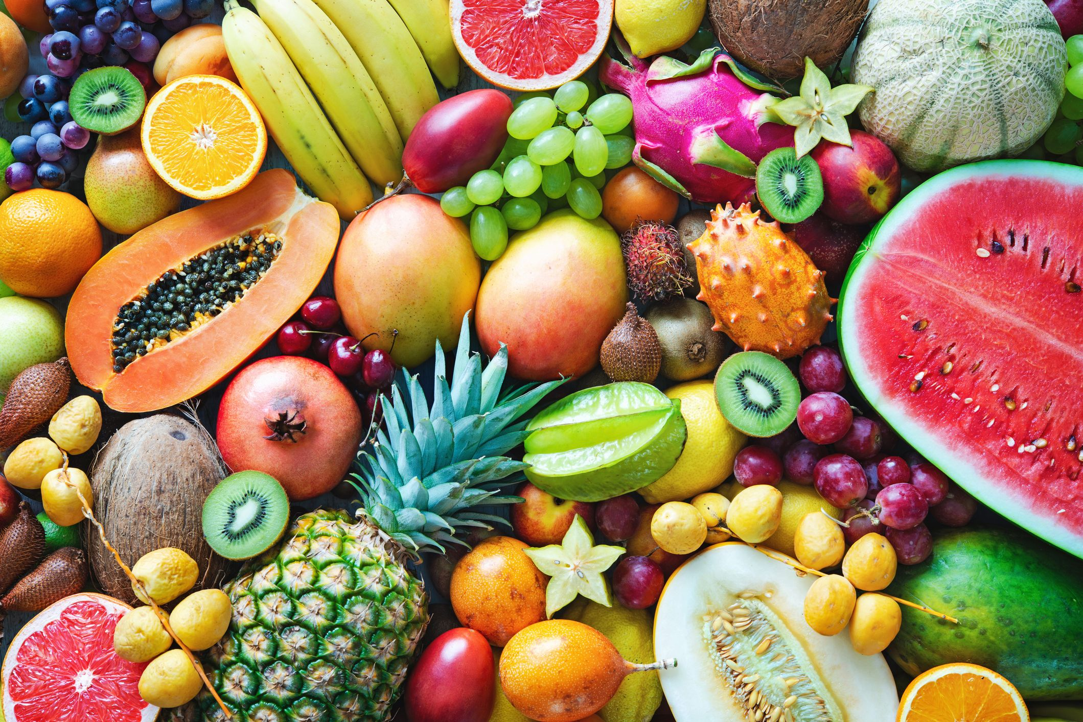 The fruits with the most and least sugar